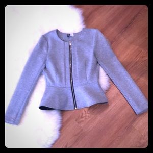 Peplum Zip Up Jacket